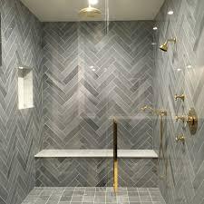 stunning shower herring bone lorca marble by tabarka studio new
