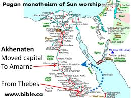 Egypt On A World Map by Exploring Akenaten U0027s Ancient Capitol City At Amarna In Egypt