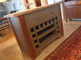 hand made kitchen island reclaimed with butcher block top by