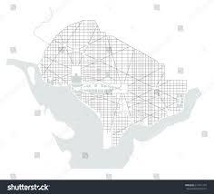 Map Of Washington Cities by Vector Map City Washington Dc Usa Stock Vector 611871107