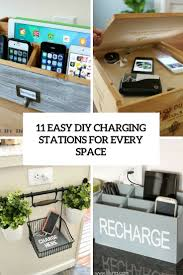 11 easy diy charging stations for every space shelterness