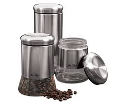 Stainless Steel Canisters Kitchen 3 Piece Kitchen Canister Set Vintage Laundry Metal Containers