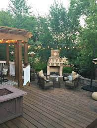 Patio Lights Outdoor by How To Hang Outdoor String Lights From Thrifty Decor
