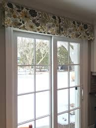 window treatment for glass door wonderful patio door valance 135 sliding glass door wood valances