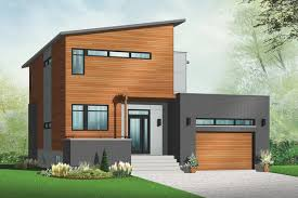 contemporary house plan with sunken foyer 22392dr