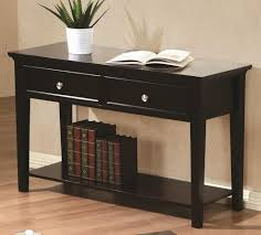 Bedroom Furniture Espresso Finish Sofa Table With Drawers In Espresso Finish U2013 Kb Home Furnishing