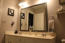 framed bathroom mirrors charming mosaic tile framed bathroom