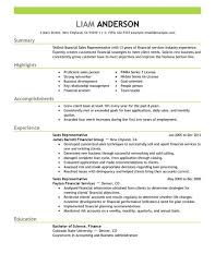 Sales Representative Resume   analyst resume