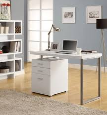 Modern White Office Desks Home Design Unstained Teak Wood Corner Laptop Desk With Several