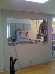 How To Install Kitchen Island by Knocking Out A Wall To Install A Bar My Fifties Kitchen Redo