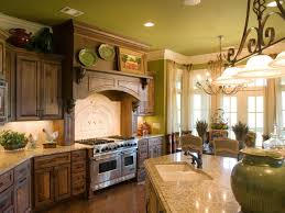 French Country Kitchen Cabinets Photos French Country Kitchen Green Rectangle Shape Kitchen Cart Floor To