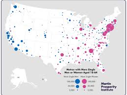 Seattle Demographics Map by Maps Show Cities Where Single Women Outnumber Men Business Insider
