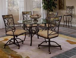 Metal Dining Room Chair Furniture Black Metal Dining Room Chairs With Casters And Curved