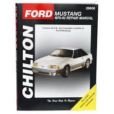 mustang chilton repair manual 1979 1993 cj pony parts
