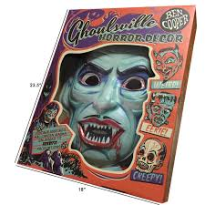 halloween wall art blood of dracula vac tastic plastic mask wall decor regal robot