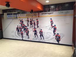 wall murals decals edmonton wall graphics edmonton signkore sports team wall mural