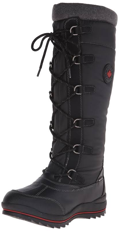 Cougar Canuck Waterproof Plaid Snow Boots Black 7 Medium (B,M)