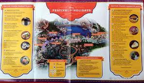 Map Of Downtown Disney Orlando by Review Festival Of Holidays Food Booths In Disney California