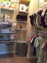 Closet Organizer For Nursery Custom Closet For The Nursery Rubbermaid Homefree From Lowes