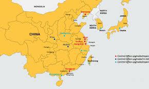 Fuzhou China Map by Damco Banks On China