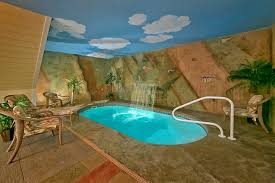 In Door Pool by Mountain Splash Cabin In Gatlinburg Elk Springs Resort