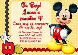 Birthday Invitation Cards For Kids Mickey Mouse Birthday Invitations With Photo Free Invitations Ideas