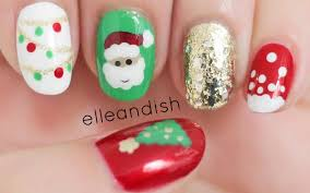 easy christmas nails freehand youtube