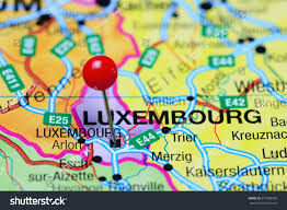 Luxembourg Map Luxembourg Pinned On Map Stock Photo 379289950 Shutterstock