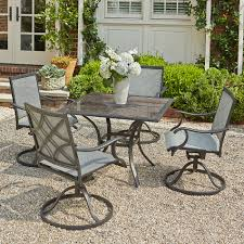 Sears Dining Room Tables Grand Resort Collins 5pc Sling Dining With Granite Limited