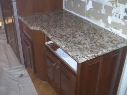 granite countertop french kitchen cabinet glass block backsplash