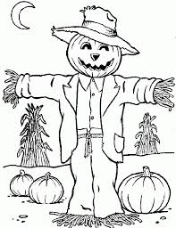 scarecrow coloring pages printable aecost net aecost net