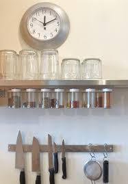 kitchen gorgeous image of black metal hanging wall spice rack for