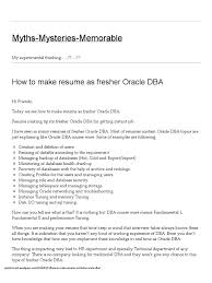 dba sample resume oracle dba resume samples visualcv resume samples database db how to make resume as fresher oracle dba myths mysteries