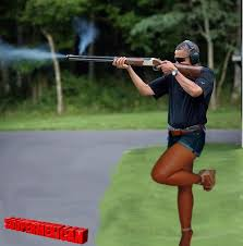 Letterman Reveals 'Actual Footage' Of Obama Skeet-Shooting At The White