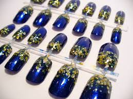 blue and gold nail art glitter gradient tutorial youtube