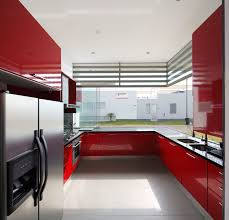 kitchen marvelous white black and red kitchen design by cesar