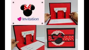 Handmade Farewell Invitation Cards Diy 6 Kids Party Handmade Invitation Card Idea Mickey Minnie