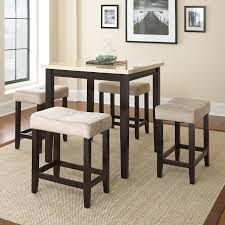 Five Piece Dining Room Sets Corliving Belgrove 5 Piece Counter Height Dining Table Set Dark