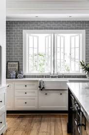 Glass Kitchen Tile Backsplash Ideas Kitchen Blue Subway Tile Backsplash Grey Gray Glass Rock Chevron
