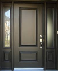 dark brown painted color best solid wood exterior door with narrow