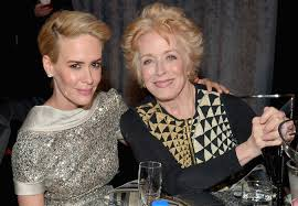 Ms  Paulson and the actress Holland Taylor at the Critics      Choice Movie Awards in January  Credit Charley Gallay Getty Images for FIJI Water The New York Times