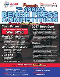 bench press competition 2017
