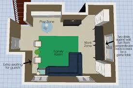 AllInOne Basement Mood Board - Family room office