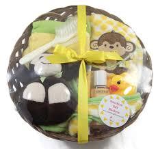 monkey time baby bath time robe sunshine gift baskets