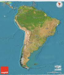 Political Map Of Latin America by Satellite 3d Map Of South America Political Outside Satellite Sea