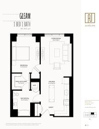 2 Bedroom 1 Bath Floor Plans Lincoln Property Company Properties Aurelien Chicago Il