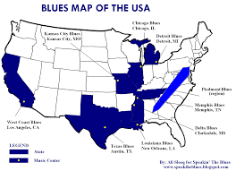 Map Of The Usa by Speakin U0027 The Blues The Blues Map Of The Usa