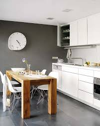 Minimalist Kitchen Cabinets by Swedish Style Minimalist Kitchen Design With Rough Wood Table And
