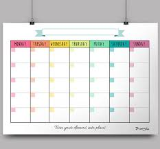 Monthly templates in high PDF files to be printed on standard x paper  There is no dates written in the planner and you can choose   colours patterns  Mais