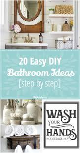 Diy Bathroom Ideas 20 easy diy bathroom ideas step by step tip junkie